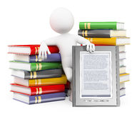 d-white-people-ebook-reader-concept-man-piles-books-background-41325393